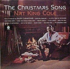 Vintage Christmas Record Album ~ The Christmas Song ~ Nat King Cole