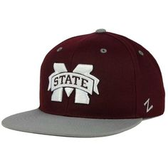 Zephyr Mississippi State Bulldogs Z11 Snapback Cap ($28) ❤ liked on Polyvore featuring mens, men's accessories, men's hats and maroon