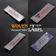 Customized clothing tags washable garment labels custom woven labels for clothing brand name labels logo woven tags(China (Mainland))