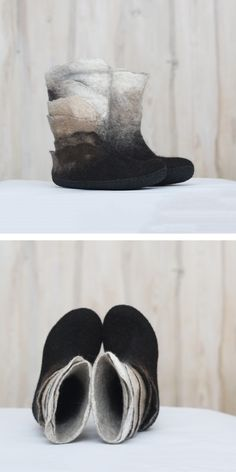 67153bb0e984a 156 Best My felted shoes and slippers images in 2018 | Felt slippers ...