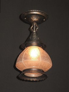 semiflush vintage porchlight fixture from the late 20s and 30s
