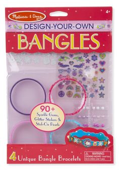 Your child will be thrilled to create personalize jewelry from design-your-own bangles. Shop this set and more design-your-own toys at Melissa & Doug. Fashion Bracelets, Bangle Bracelets, Bangles, Online Craft Store, Craft Stores, Design Your Own Jewelry, Jewelry Design, Jewelry Kits, Melissa & Doug