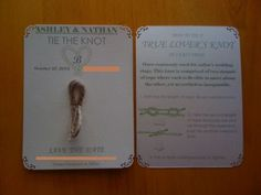 Tying the knot! ~ Would go with out Love knot theme!