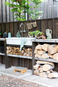 simple outdoor kitchen
