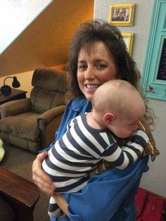Michelle holding her grandson Israel Dugger Family, 19 Kids And Counting, Bates Family, Big Family, Happy Mothers Day, 4 Kids, Children, Derick Dillard, Jill Duggar