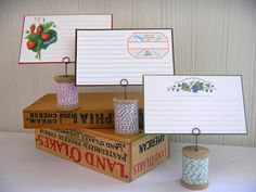 creating in glass slippers: Recipe Card Holder