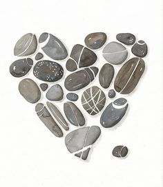 Pebbles No.22 Watercolor Art Print Limited Edition от lorisworld