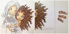 Cardville- Cards by Elizabeth: Tutorial: Coloring Curly hair with Copic Markers/ Fargelegg krøller med Copics