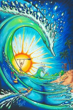 Painting Story - THE WEDGE - Drew Brophy - Surf Lifestyle Art