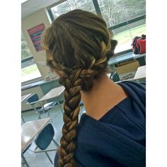 french braid | Tumblr ❤ liked on Polyvore featuring hair, hair styles, hairstyles and accessories
