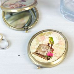 Vintage Birdcage Compact Mirror for at www.lisaangel.co.uk