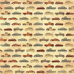 Karen Foster Design - Grandpa Collection - 12 x 12 Paper - Grandpas Automobiles