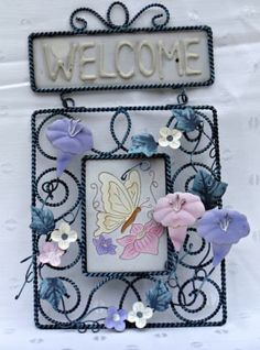 Welcome Sign in Soft Pastel Colors | 3D | Metal Outdoor