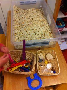 Ervaring op doen met magnetisme in de rijst-bonenbak @obs_koppel