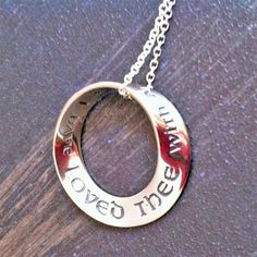 Jeremiah 31:3 Mobius Necklace ... I have loved thee...  $51.75