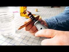 How to burnish a leather edge (for a clean, professional result) - YouTube