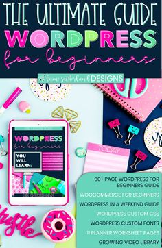 WordPress For Beginners eBook Video Library, Blog Topics, Custom Fonts, Free Blog, Planner Pages, Blogging For Beginners, Make Money Blogging, How To Start A Blog, Hunting