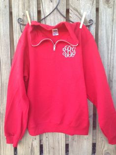 The Quarter Zip monogram Sweatshirt