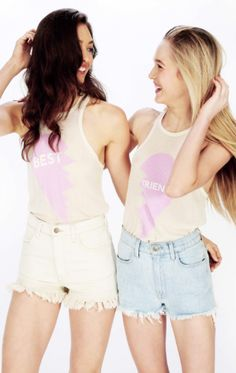 Best Friends tanks from #wildfox