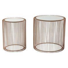 image Tables d appoint Wire cuivre 2/set Kare Design KARE DESIGN