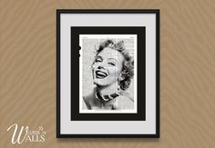 Marilyn Monroe Art Encyclopedia Art Print by ClassicWalls Marilyn Monroe Wall Art, Marilyn Monroe Quotes, Country Style Living Room, Wise Girl, Star Photography, Vintage Hollywood, Book Pages, Movie Stars, Upcycle