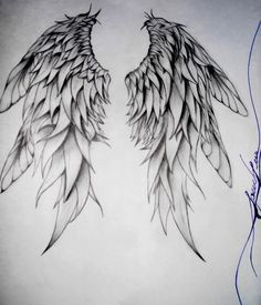 how to draw angel wings Doodle Drawing, Angel Drawing, Drawing Art, Body Art Tattoos, Cool Tattoos, Alas Tattoo, Art Sketches, Art Drawings, Tattoo Painting