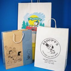 CollectPeanuts.com on Instagram - Shop 'til you drop! #snoopy #shoppingbag…