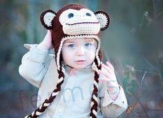 Cute winter baby hat.