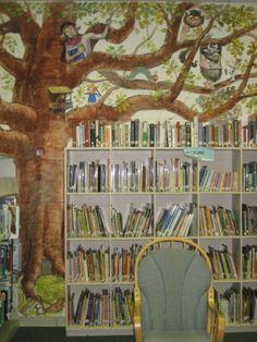 Ashville Catholic School Library Mural