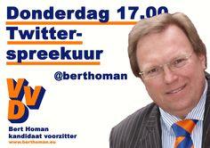 Ik wil voorzitter worden van de VVD en wil met alle leden en kiezers open communiceren.