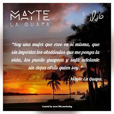 ¡Feliz Miércoles! Soy una mujer que cree en sí misma, que sin importar los obstáculos que me ponga la vida, los puedo guapear y salir adelante sin dejar atrás quien soy. #MayteLaGuapa #Dale #humor #party #musica #media #miamibeach #estrellas #entertainment #healthylife #artistas #amigos #radiousa #radio #buenavida #fitness #puertorico #mexico #soul #alegría #disfrutar #Instagram #restaurants #wine #sunglases #love…