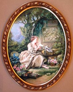 Picture Letters, Country Paintings, Alice, Decoupage Paper, French Art, Pictures To Paint, Rococo, Contemporary Artists, Decoration
