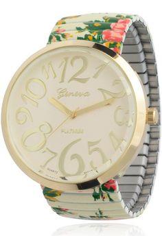 Floral Stretch Watch