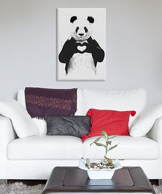 Loving this Balazs Solti All You Need Is Love Gallery-Gallery-Wrapped Canvas on #zulily! #zulilyfinds