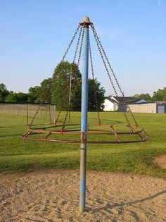 Old witches hat playground equipment! Who remembers this?