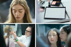 """At Dior, Icing on the Cake:"" Sugary pastel eyeliner made from strips of satin conjures worlds of romance and solace [New York Times]"