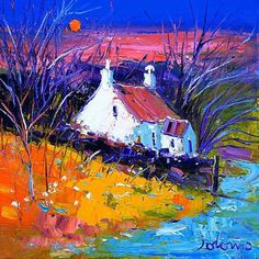 Winter at Taynish Knapdale Art Print by John Lowrie Morrison - WorldGallery.co.uk