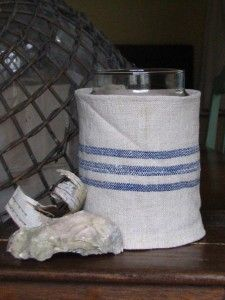Flour Sack Candle Cover_Cottage in the Oaks  Nice....