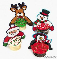 Plastic Christmas Character Cupcake Picks Pack of 24 ** To view further for this item, visit the image link.(This is an Amazon affiliate link and I receive a commission for the sales)