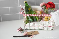 Everybody loves a wire basket these days, but maybe you want a way to make this stylish staple a tad more unique. That sounds like a job for designer tape! Grab a couple of coordinating rolls, and then go to town until you've got the look you want.