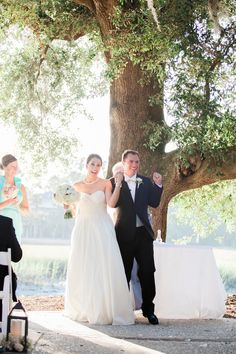 Charleston wedding at Dunes West Golf Club by Judy Nunez Photography featuring a Stella York wedding dress