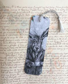 Alice In Wonderland Bookmark March Hare Bookmark Fantasy Art Gothic Art Rabbit Bookmark by deannadavoli on Etsy