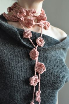 crochet lariat necklace