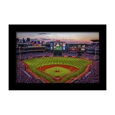 the best attitude a2759 dd4b3 Sunset At Turner Field - Home Of The Atlanta Braves Framed Print