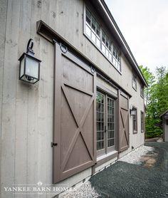Exterior barn door entry