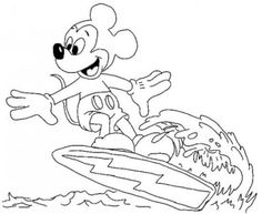 Beach Summer Coloring Pages for