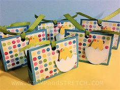 Stamp and Stretch: The Peeps Have Hatched (mini treat totes) Tutorial