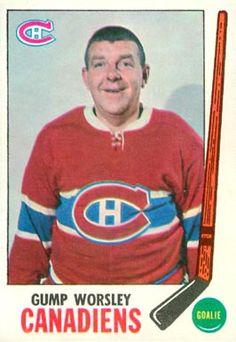 gump worsley hockey cards | 1969 Topps Gump Worsley #1 Hockey Card