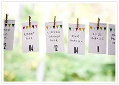 Inspirations, Colorful Bunting Escort Cards: Colorful Ohio wedding of Meghan and John Wedding Notes, Wedding Blog, Diy Wedding, Wedding Reception, Wedding Ideas, Renewal Wedding, Wedding Playlist, Seating Cards, Table Seating