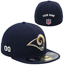 0e6843b0c Men s New Era St. Louis Rams Customized Onfield 59Fifty Football Structured  Fitted Hat Football Team